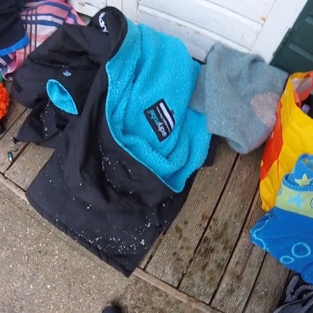 swimming kit, wild swimming, sea swimming, orange hat ladies