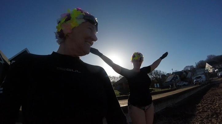 Women swimmers, Orange Hat Ladies, sea swimming, wild swimming, isle of wight, international women day