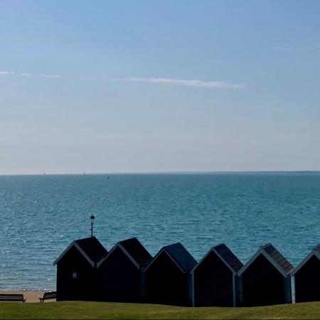 sunshine, gurnard, april 2020, orange hat ladies, sea swimming, wild swimming, outdoor swimming, isle of wight