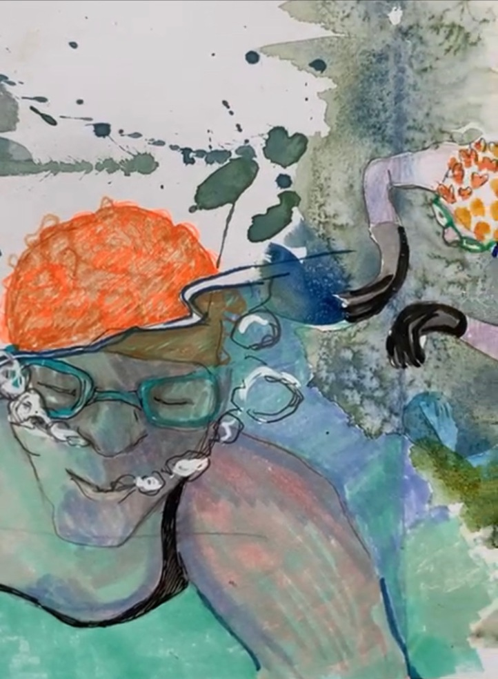 karen mead, orange hat ladies, sea swimming, wild swimming, swim blog