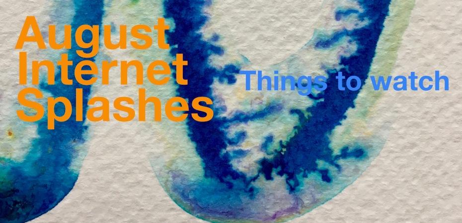 internet splashes, sea swimming, orange hat ladies, swim blog, blog